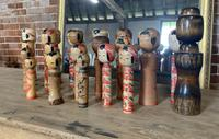 Collection of 22 Japanese Kokeshi Wooden Dolls (8 of 8)