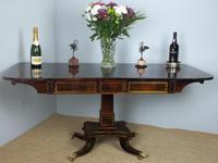 Superior Antique Regency / Georgian Brass Inlaid Rosewood Sofa Table