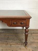 19th Century Antique Inlaid Partners Library Desk Table (4 of 12)