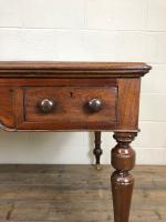 19th Century Antique Inlaid Partners Library Desk Table (6 of 12)