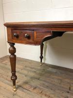 19th Century Antique Inlaid Partners Library Desk Table (7 of 12)