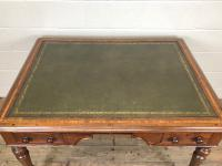 19th Century Antique Inlaid Partners Library Desk Table (8 of 12)