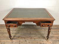 19th Century Antique Inlaid Partners Library Desk Table (9 of 12)
