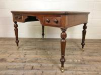 19th Century Antique Inlaid Partners Library Desk Table (11 of 12)