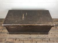 Antique Victorian Stained Pine Trunk (3 of 8)