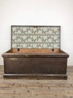 Antique Victorian Stained Pine Trunk (4 of 8)