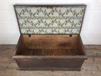 Antique Victorian Stained Pine Trunk (5 of 8)