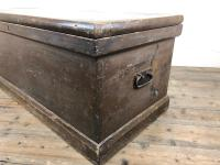 Antique Victorian Stained Pine Trunk (7 of 8)