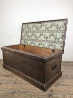 Antique Victorian Stained Pine Trunk (8 of 8)