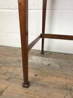 Antique Arts & Crafts Side Table with Leather Top (4 of 11)