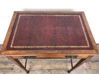 Antique Arts & Crafts Side Table with Leather Top (6 of 11)