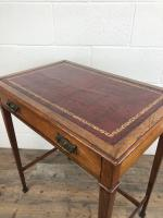Antique Arts & Crafts Side Table with Leather Top (8 of 11)