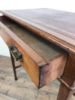 Antique Arts & Crafts Side Table with Leather Top (9 of 11)