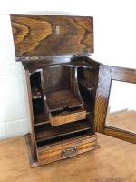 Small Antique Oak Smoker's Cabinet (2 of 6)