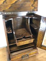 Small Antique Oak Smoker's Cabinet (3 of 6)