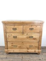 Antique Victorian Pine Chest of Drawers (2 of 10)
