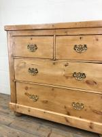Antique Victorian Pine Chest of Drawers (5 of 10)