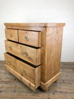 Antique Victorian Pine Chest of Drawers (9 of 10)