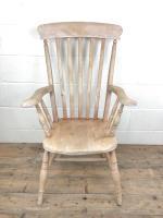 Antique 19th Century Ash & Elm Windsor Armchair (2 of 12)