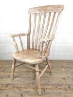 Antique 19th Century Ash & Elm Windsor Armchair (8 of 12)
