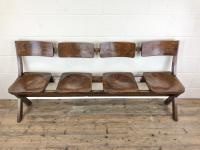 Antique Victorian Elm Four Seater Bench (2 of 15)