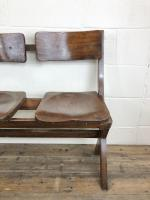 Antique Victorian Elm Four Seater Bench (3 of 15)