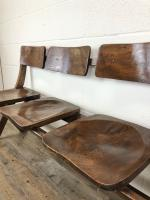 Antique Victorian Elm Four Seater Bench (6 of 15)