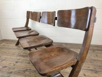 Antique Victorian Elm Four Seater Bench (10 of 15)