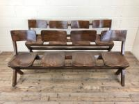 Antique Victorian Elm Four Seater Bench (13 of 15)