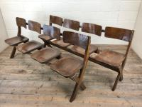 Antique Victorian Elm Four Seater Bench (14 of 15)