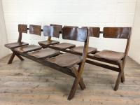 Antique Victorian Elm Four Seater Bench (15 of 15)