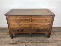 18th Century Oak Coffer with Cleated Plank Lid (2 of 19)