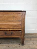 18th Century Oak Coffer with Cleated Plank Lid (4 of 19)