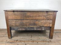 18th Century Oak Coffer with Cleated Plank Lid (18 of 19)