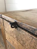 18th Century Oak Coffer with Cleated Plank Lid (19 of 19)