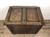 Small Antique 19th Century Two Panel Coffer (3 of 7)