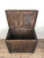 Small Antique 19th Century Two Panel Coffer (5 of 7)