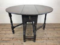Antique 19th Century Small Oak Gateleg Table (4 of 8)