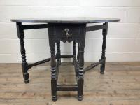 Antique 19th Century Small Oak Gateleg Table (5 of 8)