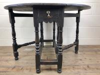 Antique 19th Century Small Oak Gateleg Table (6 of 8)