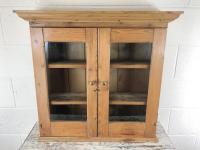Antique Victorian Pine Glazed Wall Cupboard (2 of 7)