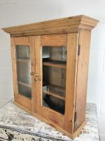 Antique Victorian Pine Glazed Wall Cupboard (7 of 7)