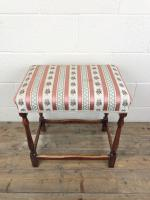 Early 20th Century Stained Beech Stool (2 of 10)