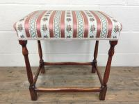 Early 20th Century Stained Beech Stool (3 of 10)