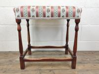 Early 20th Century Stained Beech Stool (4 of 10)