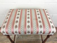 Early 20th Century Stained Beech Stool (5 of 10)