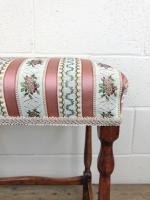 Early 20th Century Stained Beech Stool (6 of 10)