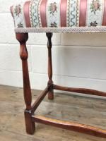Early 20th Century Stained Beech Stool (7 of 10)