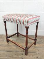 Early 20th Century Stained Beech Stool (9 of 10)