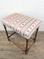 Early 20th Century Stained Beech Stool (10 of 10)